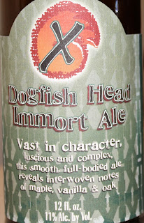 Dogfish Head, Immort Ale, label, craft beer