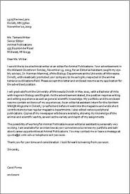 best sample job application letter template