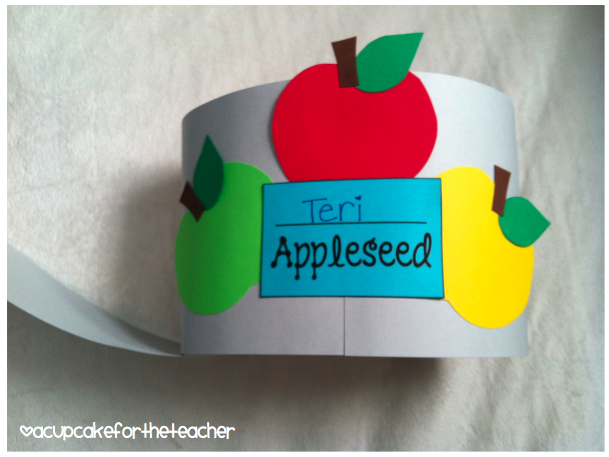 Johnny Appleseed Paper Hat Template http://kindergartensmorgasboard.blogspot.com/2012/09/schedulin-sunday_23.html