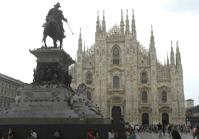 Duomo Cathedral and square, Milan, Italy
