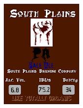 South Plains Pale Ale Label