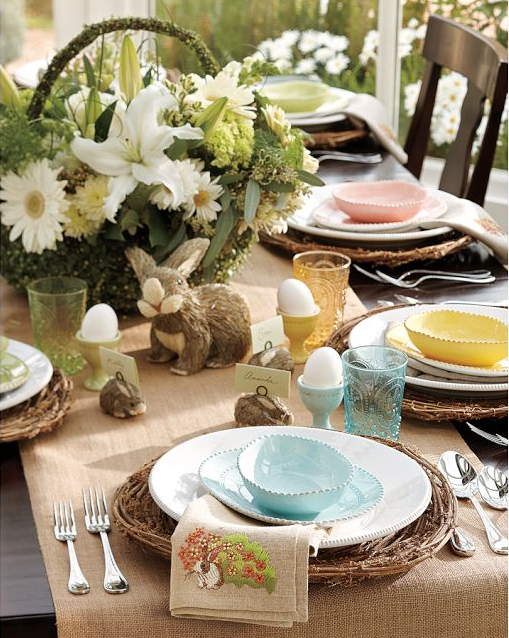 Ingrid brown interior design easter table settings - Table easter decorations ...
