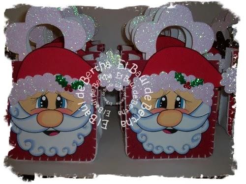 Dulcero Navidad con Carita de Santa y Reno en Foamy Dulceros%2Bnavide%C3%B1os%2Bsanta%2By%2Breno%2B(2)