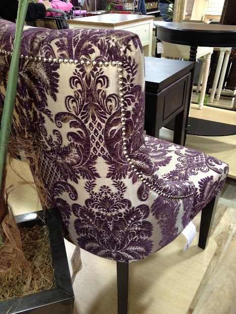 Delicieux Purple Damask Accent Chair