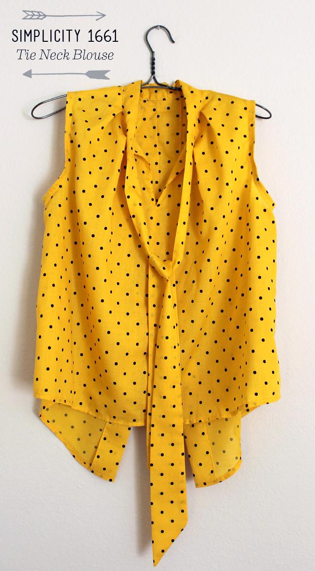 Yellow Polka Dot Blouse 55