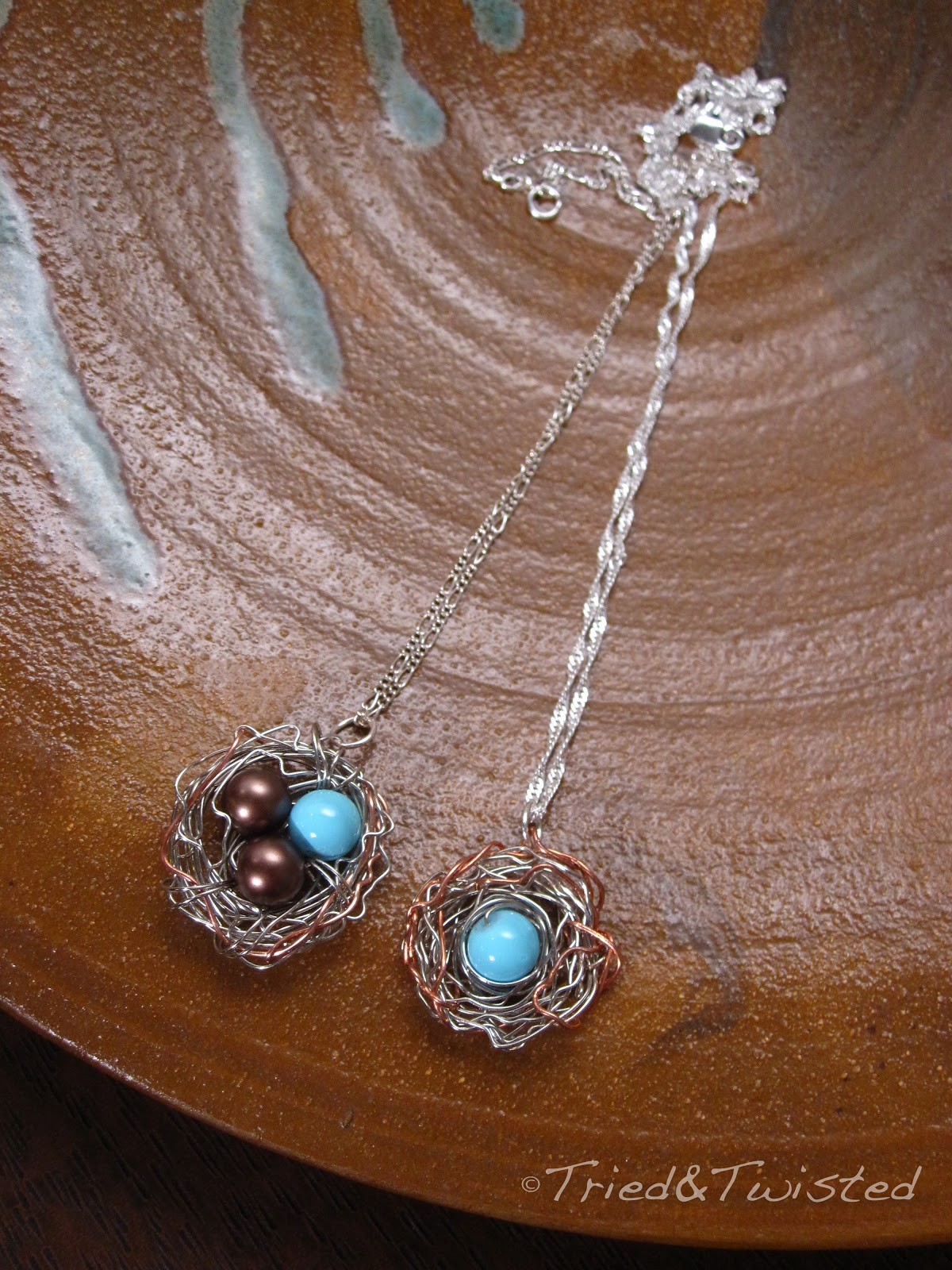 Tried and twisted diy bird nest necklace with a twist diy bird nest necklace triedtwisted aloadofball Choice Image