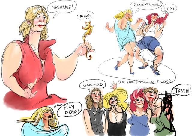 Cartoon doodle by Artmagenta