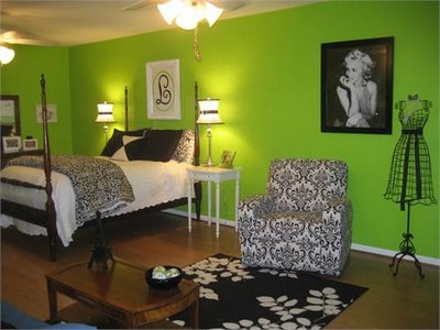 Green Teen Bedroom Design Ideas