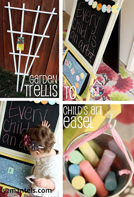 DIY Childs Art Easel by 52 Mantels