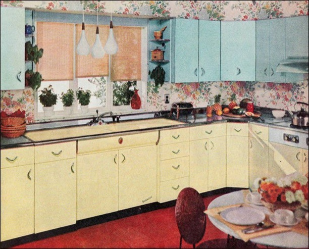 Decora y disena cocinas retro 1950 39 s - Cocinas retro ...