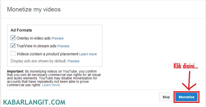 Adsense Dengan YouTube 2