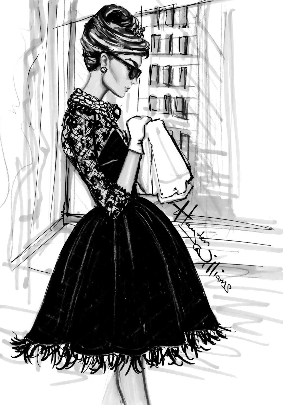 Hayden williams fashion illustrations breakfast at - Paris 2000 hair salon ...