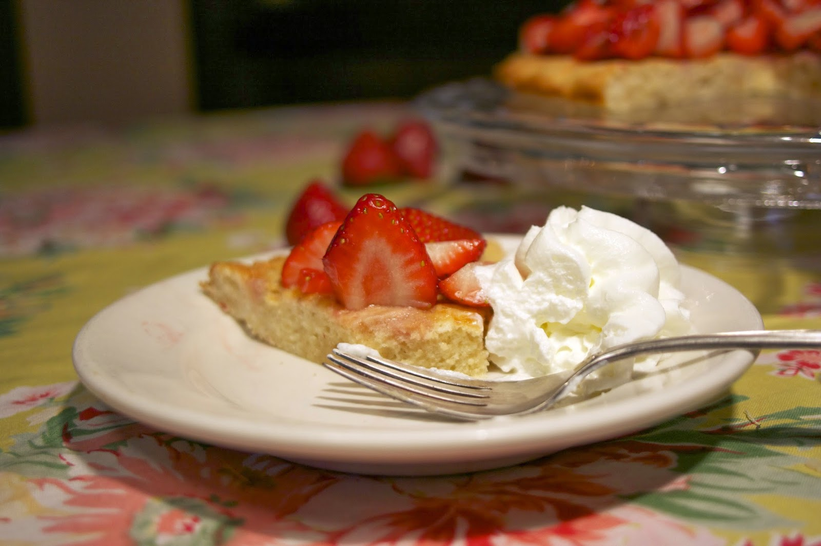 strawberry short cake- visitandines- simplelivingeating.com