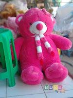 Boneka Bear Syal Warna Pink