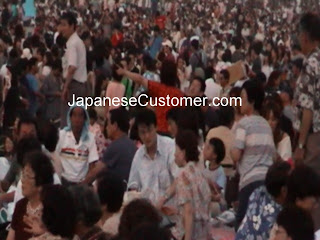 Japanese customers enjoy fireworks copyright peter hanami 2010