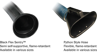 Two styles of Sentry Air capture hoses are flame-retardant.