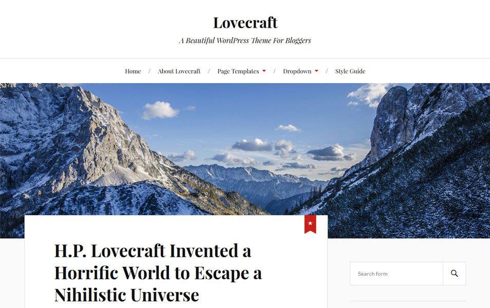 Lovecraft Responsive WordPress Theme