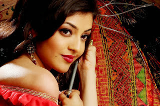 Kajal Agarwal In Red Dress Photoshoot