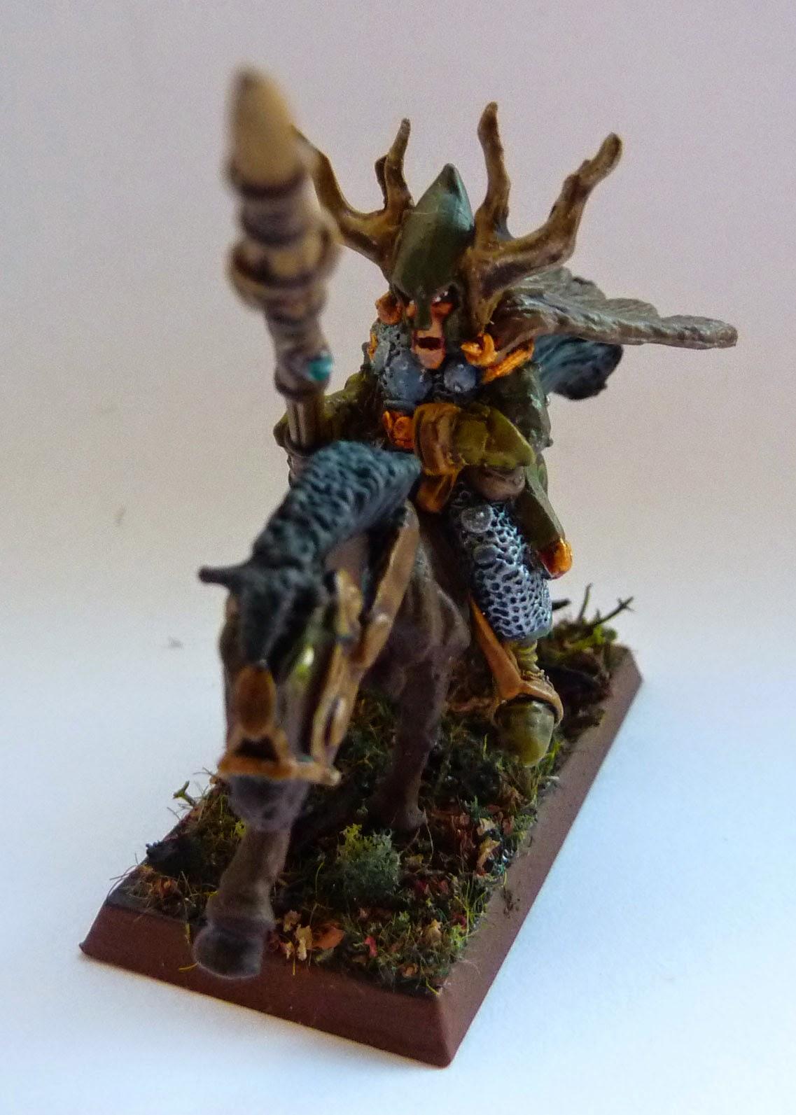 Wood Elf Wild Riders, converted from old metal Elf Cavalry.