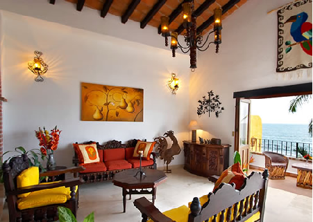Interior design gallery of 2012 mexican style interior for Mexican houses interior designs