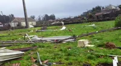 Tempestade em Duas Igrejas, Paredes [Video]
