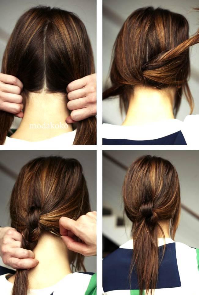 Быстрые и лёгкие причёски из хвоста