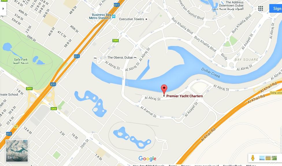 Premier Yacht Charters Dubai Map Dubai Tourists Destinations and – Dubai Tourist Attractions Map