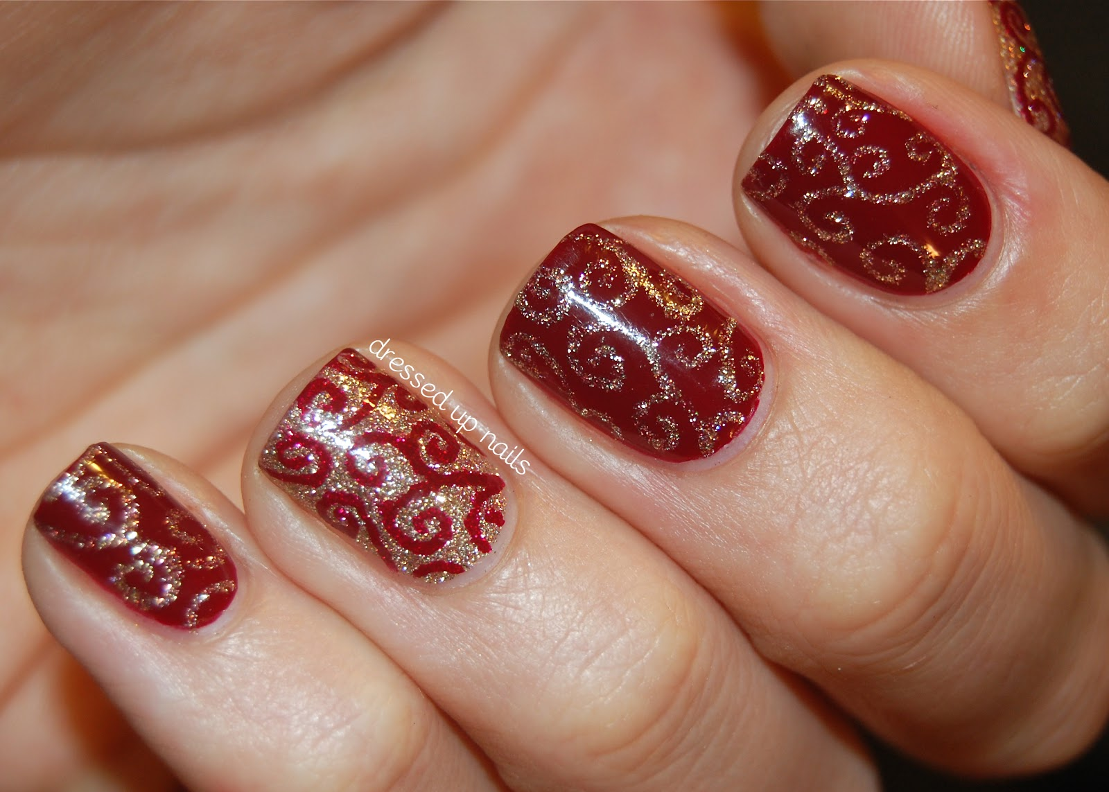 Christmas Design For Short Nails : Christmas nail art designs pccala
