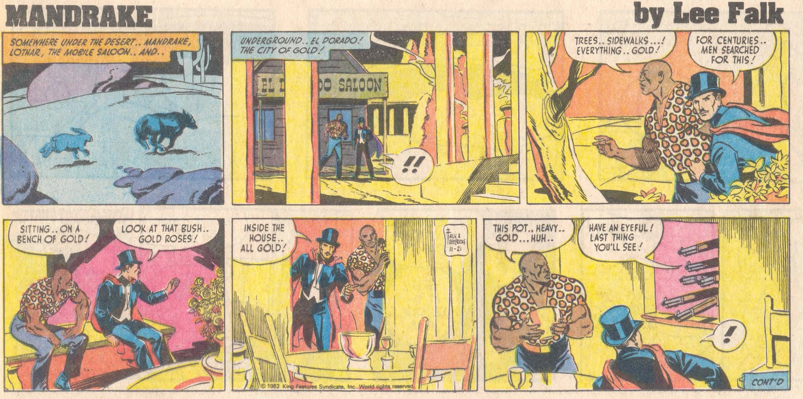 Mandrake the Magician Comic Strip for