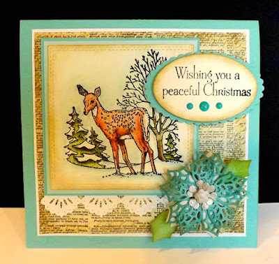 Our Daily Bread Designs, Merry Mosaic dies, Peaceful Poinsettia dies, Beautiful Border dies, Peaceful Deer, designed By DJ Rants