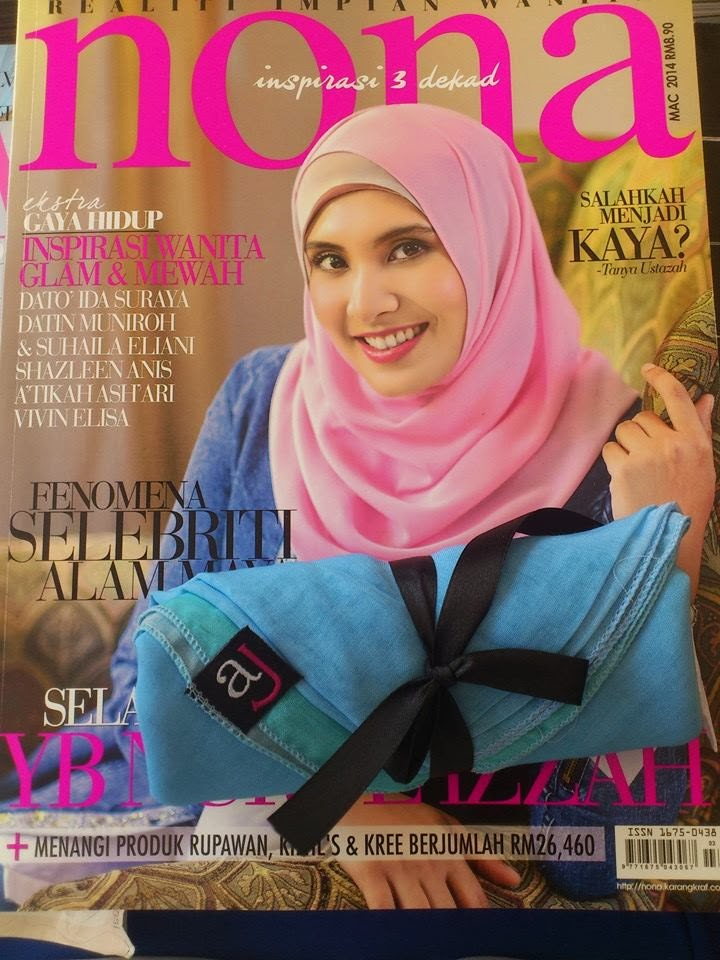 Wajah Nurul Izzah menghiasi majalah Nona Mac 2014