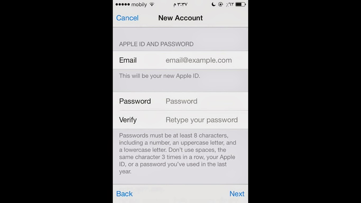 Choose Create New Apple ID From The Second Option Then Online Form Will Appear After Agreeing Terms And Conditions