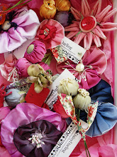 My handmade french ribbon flowers and corsages