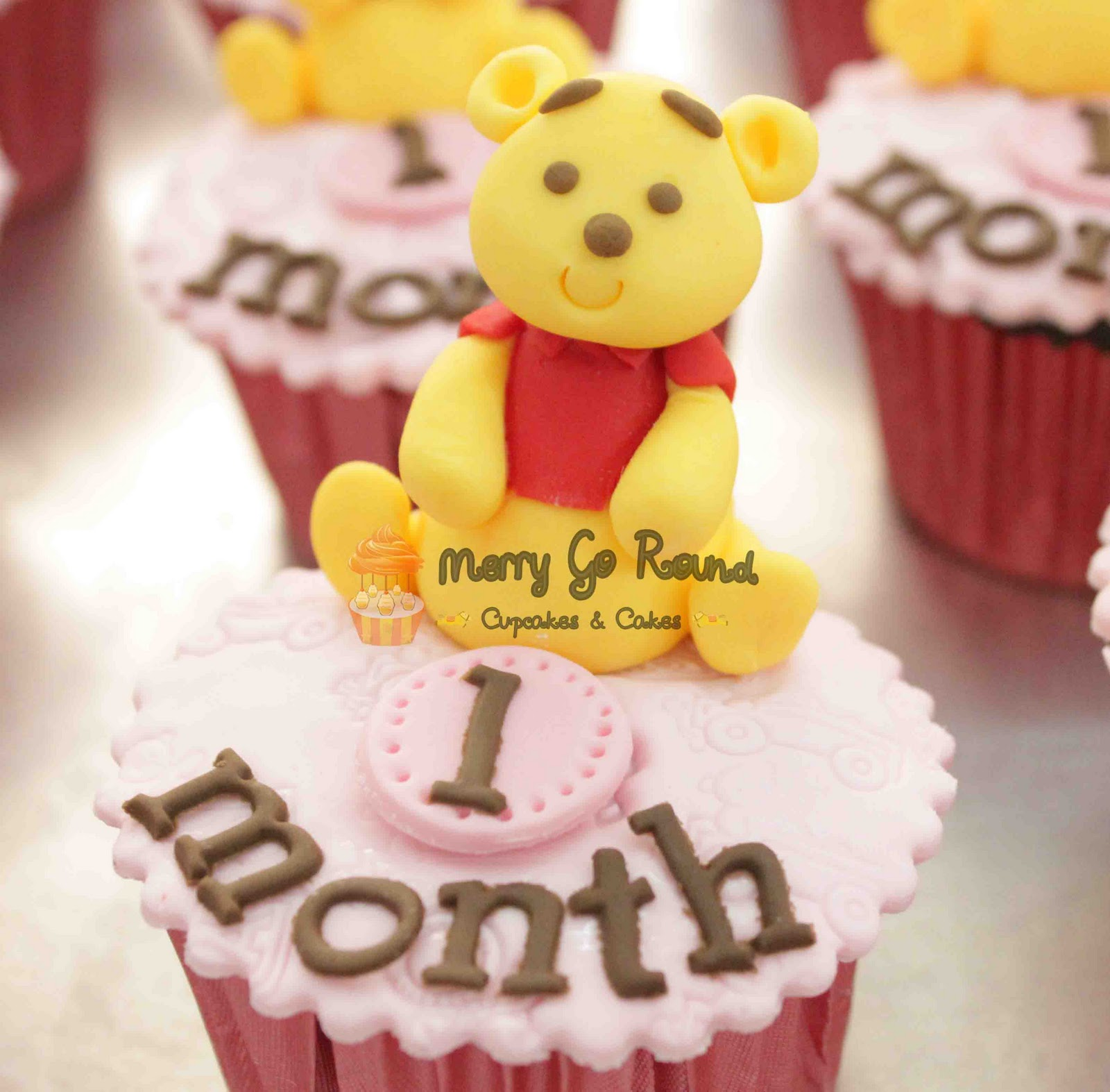 Merry Go Round Cupcakes Cakes Baby Girl One Month Cupcakes