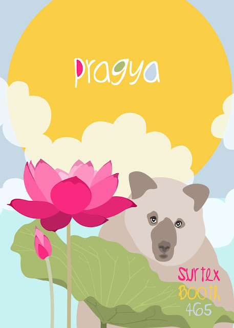 Surtex promotional piece for Pragya Kothari