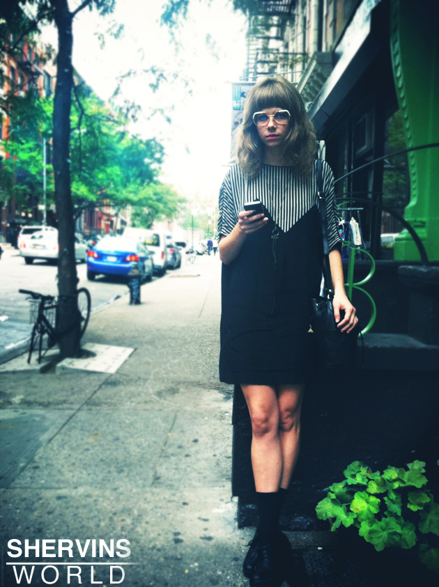 a hipster in new york, hipster girls, hipster fashion, ny street fashion, shervin nassi,
