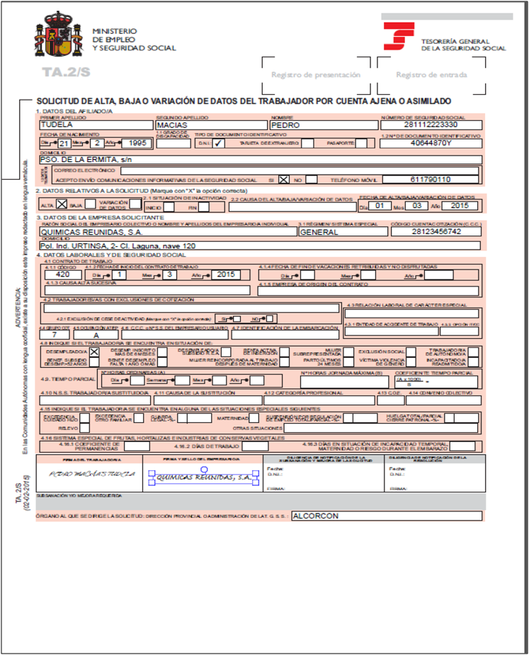Creeper 121 administracion y finanzas rrhh ejercicios t for Modelo ta 6 0138 hogar
