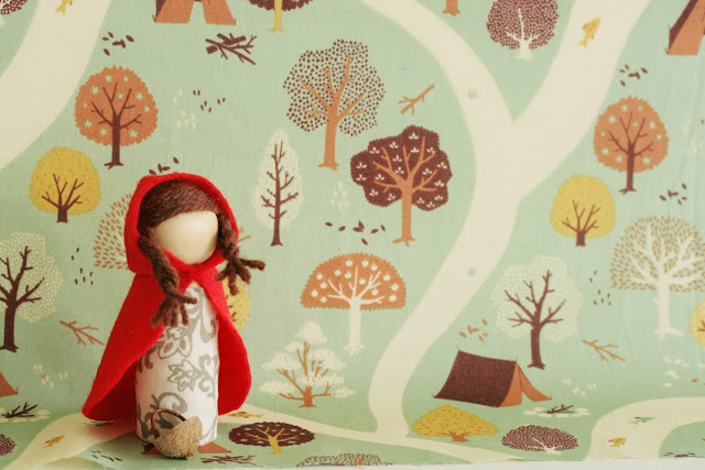 little red riding hood waldorf doll tutorial