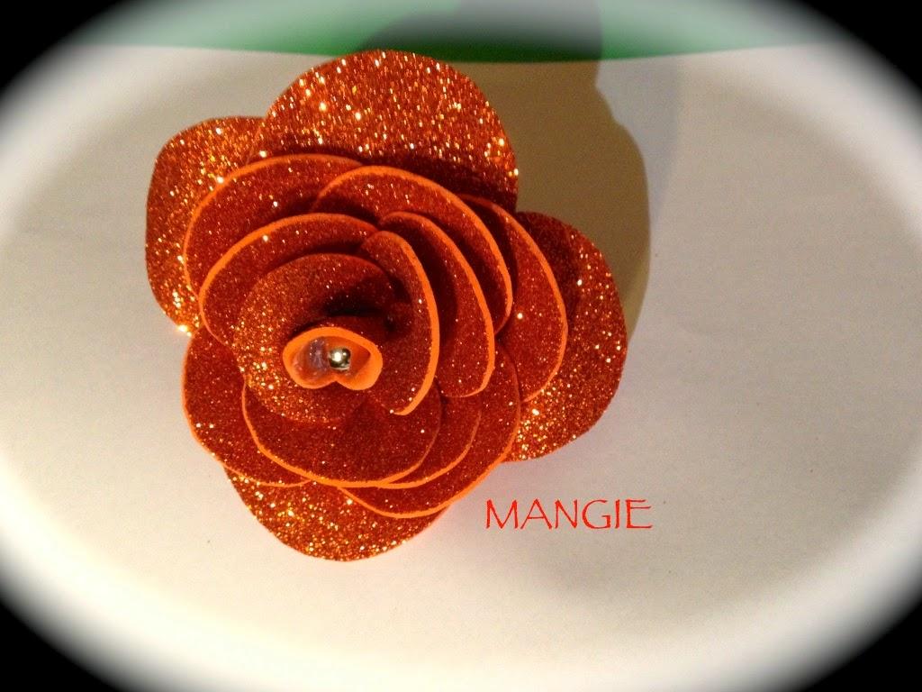 Rosa purpurina naranja