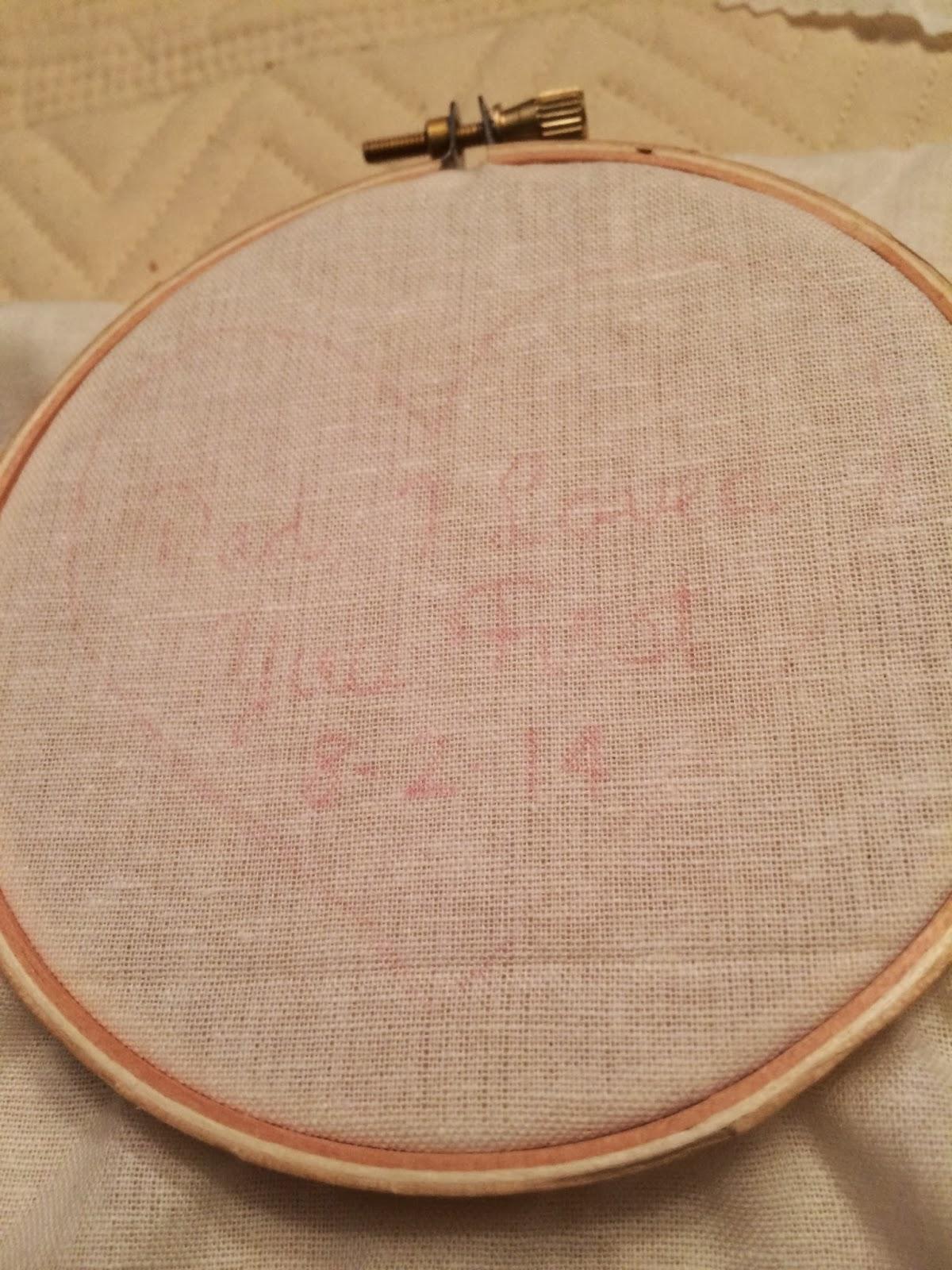 Doeblerghini Bunch:  Dad's Tie Patch - Pattern on Hoop