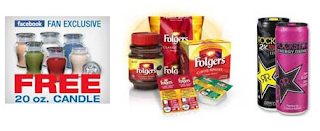 Free Candle Folgers, Rockstar and More