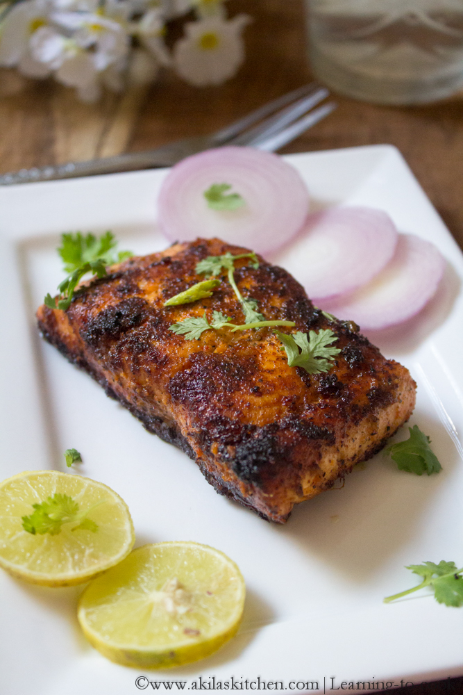 Learning to cook indian style salmon fish fry salmon for Easy fish fry recipe