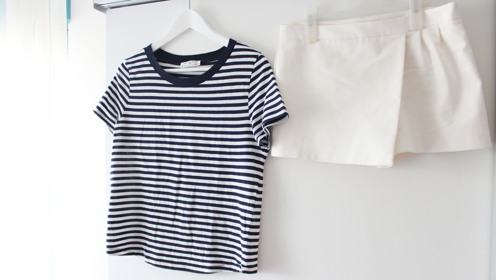 Barcelona shopping haul zara linen stripes skorts