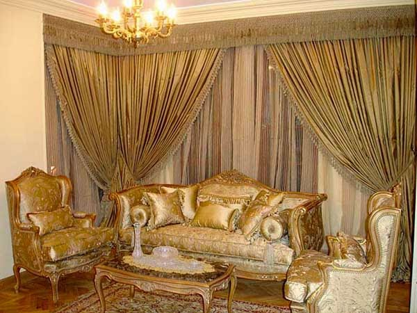 Curtains Design For Living Room Luxurious Drapes