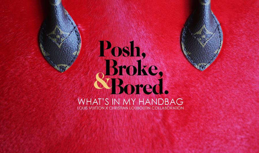 What\u0026#39;s In My Handbag: Louis Vuitton x Christian Louboutin | Posh ...
