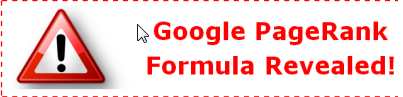 Google Page Rank Formula Revealed