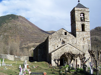 Barruera romanesque church in Vall de Boí