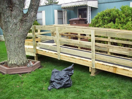 How to build a temporary wheelchair ramp universal for Building a wheelchair accessible home