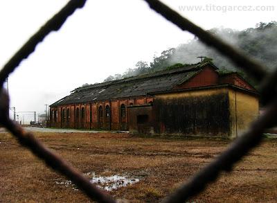 Galpão na antiga estação ferroviária de Paranapiacaba