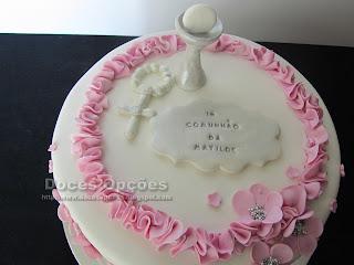 bolos decorados comunhão